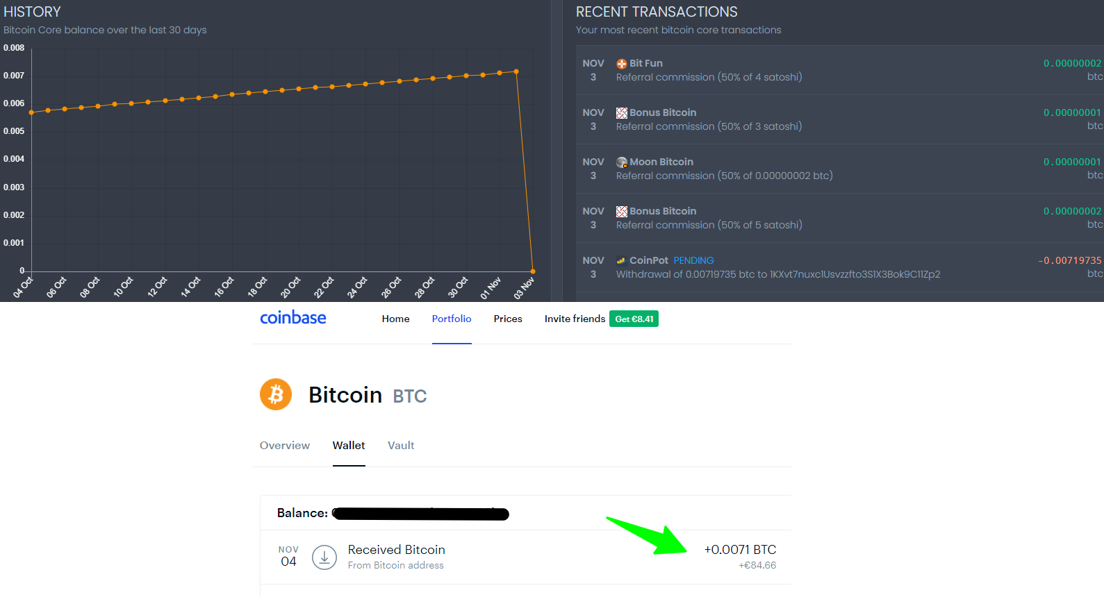 Payment Proof Moon Bitcoin