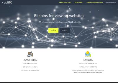 Screenshot Website adbtc