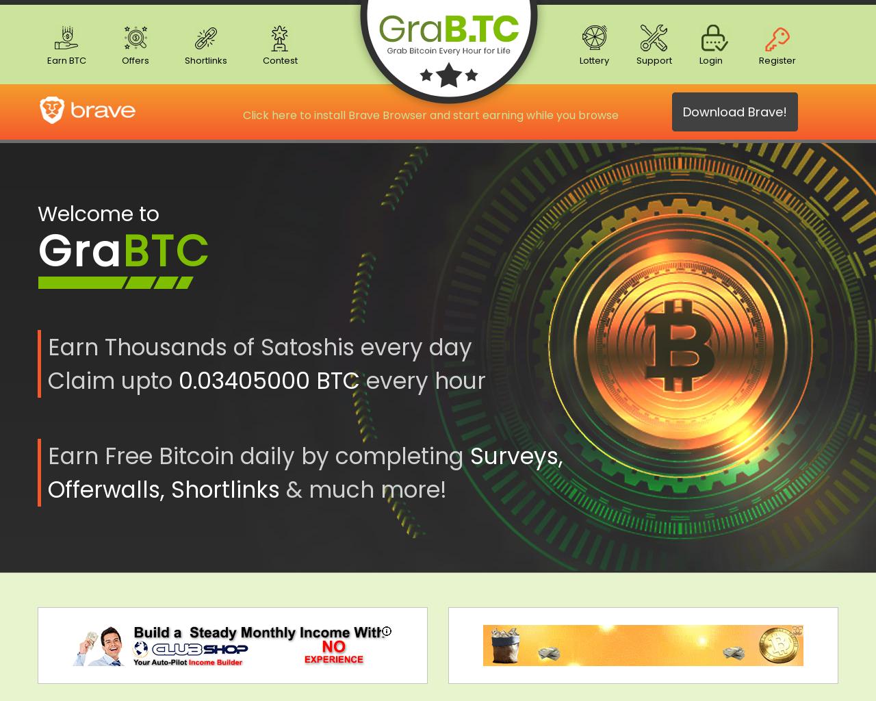 Screenshot Website grabtc
