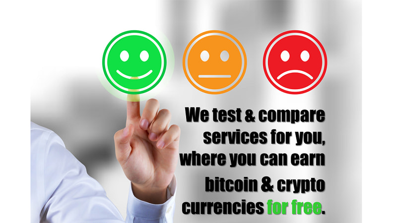 We test & compare providers for you, where you can earn bitcoin & crypto currencies for free.